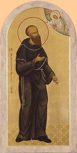 St Maximilian Kolbe - Icon by Marek Czarnecki
